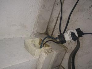 Também foram constatados problemas elétricos (Foto: Auditoria fiscal do trabalho/Divulgação)