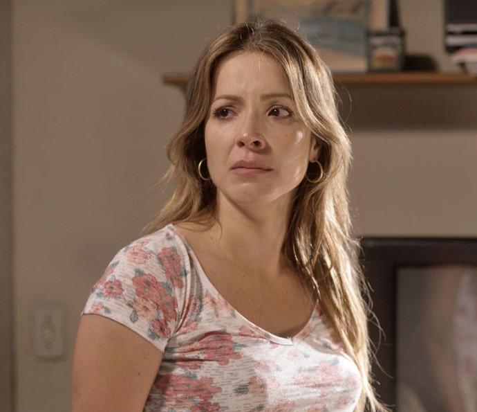 ... Mas a loira garante que vai ter volta (Foto: TV Globo)