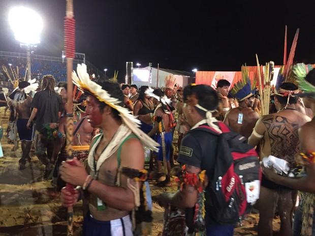 Indígenas encerraram competições nesta quarta-feira (28) (Foto: Wilton Dias/TV Anhanguera)