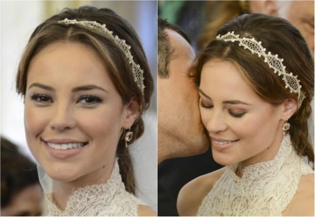 A personagem Paloma (Paolla Oliveira) se casou com Bruno (Malvino Salvador)  em  novela 'Amor à Vida' (Foto: TV Globo/Divulgação)