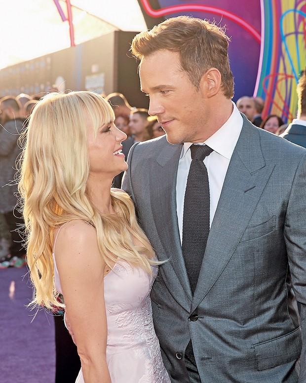 Anna Faris e o marido, Chris Pratt  (Foto:  )