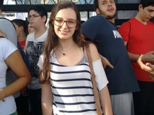 Manuela de Carvalho achou o tema da redação da Unesp bastante atual (Foto: Carol Malandrino/G1)