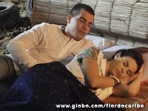 Amaralina e Rodrigo (Foto: Flor do Caribe/TV Globo)