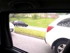 Motoristas são flagrados ao atravessar canteiro em Sorocaba; vídeo
