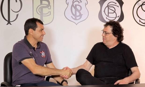 Fábio Carille e Walter Casagrande (Foto: Reprodução)