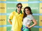 Anitta e vários famosos se preparam para ir ao Mineirão: 'Chegando'
