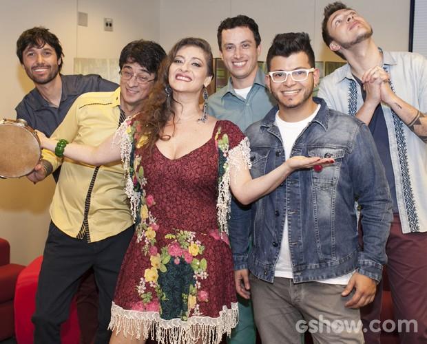 Bicho de Pé bastidores Top 7 (Foto: Dafne Bastos/TV Globo)