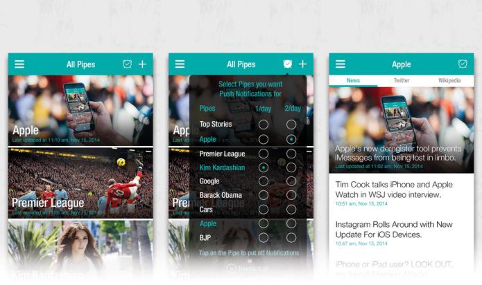 Informe-se transformando suas buscas em revista com o Pipes News (Foto: Divulgação/AppStore)