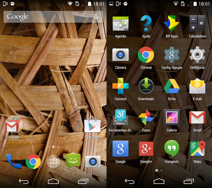 Interface do Moto X com Google Now Launcher (Foto: Reprodução)