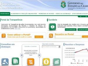 portal da transparência do governo do estado (Foto: Reprodução)