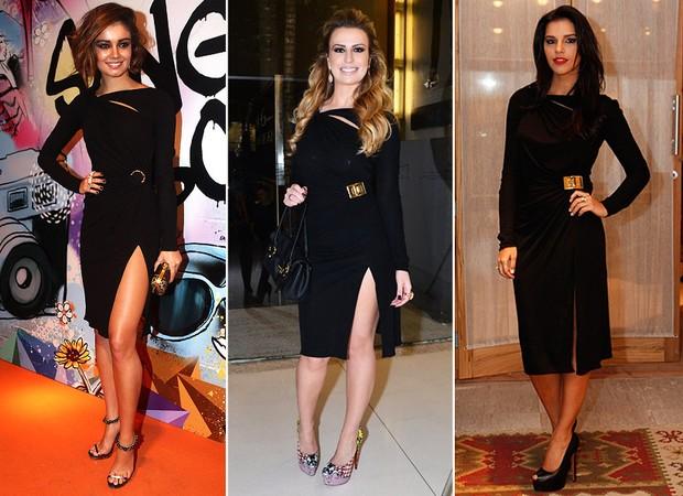 Sophie Charlotte, Fernanda Keulla e Mariana Rios usam o mesmo vestido (Foto: Iwi Onodera / EGO | Caio Duran / Agnews | Marcos Serra Lima / EGO)