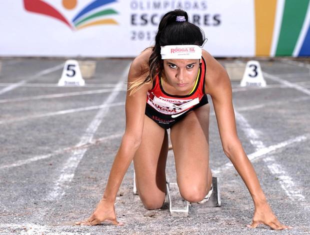Tamiris de Liz atletismo Olimpíadas Escolares (Foto: Fernando Soutello / Agif / COB)