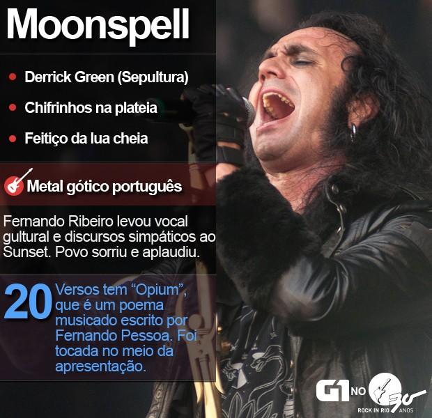 Moonspell se apresenta com Derrick Green, do Sepultura, no Palco Sunset (Foto: Luciano Oliveira/G1)
