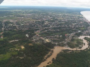 Vista aérea do município de Humaitá, no Amazonas (Foto: Divulgação/54º BIS)