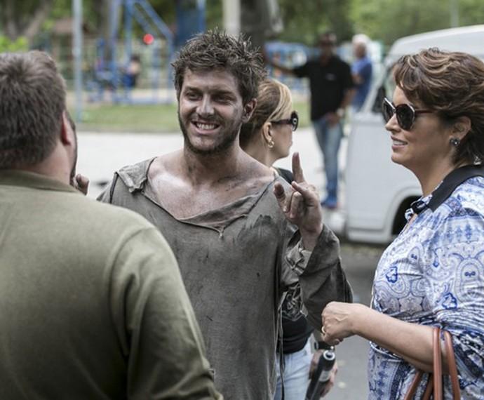 Personagem de Klebber Toledo virou mendigo em uma fase da trama (Foto: Inácio Moraes/Gshow)