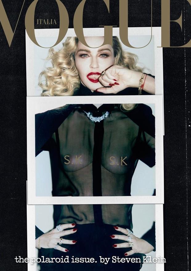 Madonna para Vogue Itália (Foto: Steven Klein/Reprodução)