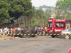 Colisão frontal mata três pessoas em avenida de Mozarlândia, Goiás