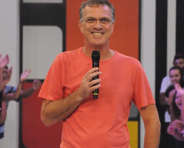 Pedro Bial no BBB 10 (Foto: Divulgação/TV Globo)