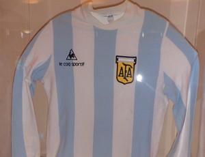 Tour da Taça - Mar Del Plata - Camisa do Maradona nas eliminatórias da Copa de 1986 (Foto: Cassius Leitão)