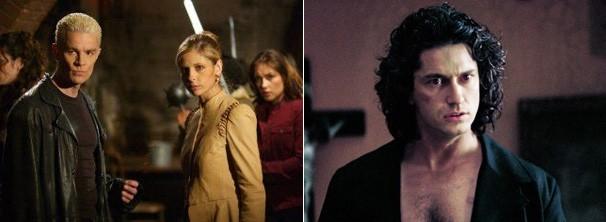 James Marsters em 'Buffy: a Caça Vampiros' e Gerard Butler em 'Dracula 2000' (Foto: divulgação / reprodução)