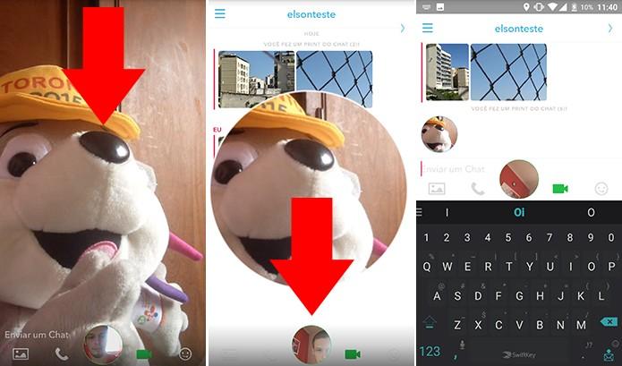 Snapchat pode ter imagem da câmera minimizada facilmente (Foto: Reprodução/Elson de Souza)