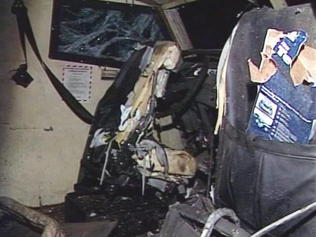 carro forte explosão canápolis (Foto: Reprodução/TV Integração)