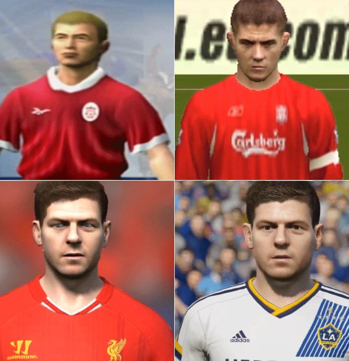 Gerrard: registro do Fifa 2000 mostra bem a evolução dos gráficos (Foto: Reprodução/Thiago Barros)