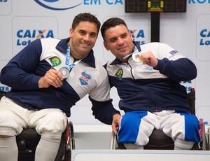 esgrima paralímpica Jovane Guissone e Fabio Dasmaceno (Foto: Divulgação / CPB)