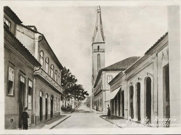 Avenida Francisco Glicério, Rua do Rosário, 1920, Campinas (Foto: MIS-Campinas/Coleção Biblioteca Municipal de Campinas)