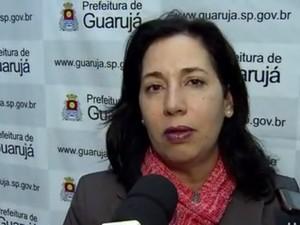 Prefeita de Guarujá fala sobre a greve dos professores (Foto: Reprodução/TV Tribuna)