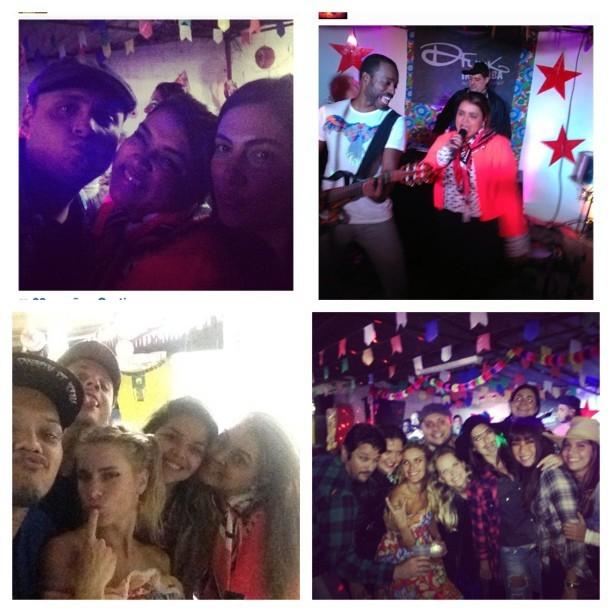 Preta Gil e amigos em festa no Rio (Foto: Instagram/ Reprodução)
