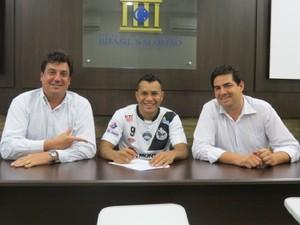 Cristiano vai voltar a defender o Misto na temporada 2014 (Foto: Divulgação/Misto)