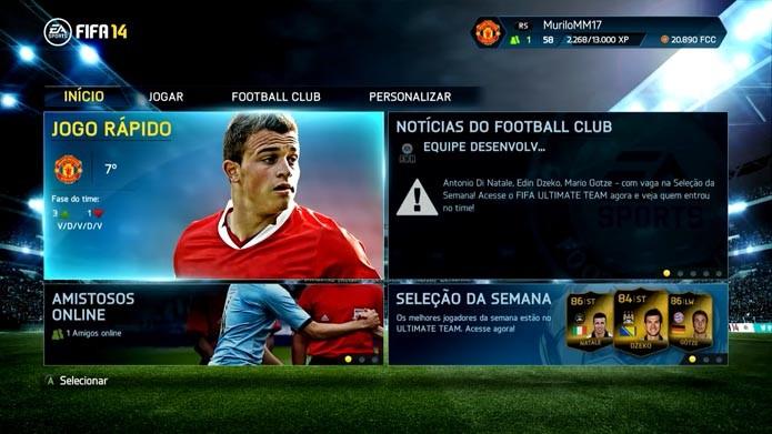 Fifa 14: aprenda a desbloquear e jogar com a seleção da Adidas (Foto: Reprodução/Murilo Molina)