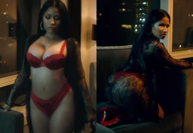 Nicki Minaj em clipe de 'Do You Mind' (Foto: Reprodução)