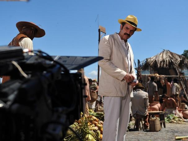 Humberto Martins grava as primeiras cenas como Nacib (Foto: Estevam Avellar / TV Globo)