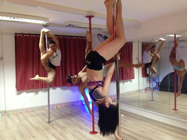 3aa4fc03dd698 Pole dance tem recebido novos praticantes na região (Foto: Rodrigo Martins/  G1)