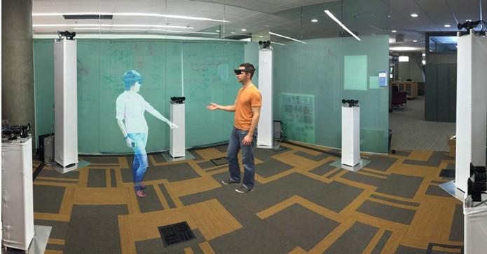 Holoportation permite que usuários do HoloLens conversem e interajam com hologramas de seus contatos (Foto: Divulgação/Microsoft)