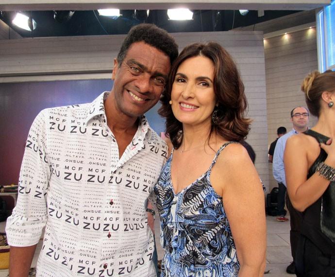 Fátima com o ator Helio de La Peña  (Foto: Priscilla Massena/Gshow)
