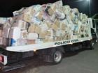 Dupla é presa no AM com mais de 100 mil carteiras de cigarro do Paraguai