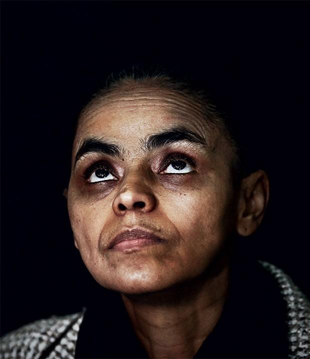 EMOÇÃO Marina Silva  em entrevista pouco depois da morte de Eduardo Campos. Ela chegou perto  de chorar (Foto: Murillo Constantino/Agência o dia)