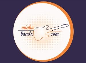 Logomarca Minha Banda.com 300x220 - fundo azul (Foto: divulgação)