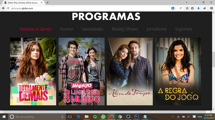 Globo Play e Globosat Play podem ser assistidos no navegador do Windows, Mac e em outras plataformas (Foto: Reprodução/Elson de Souza)