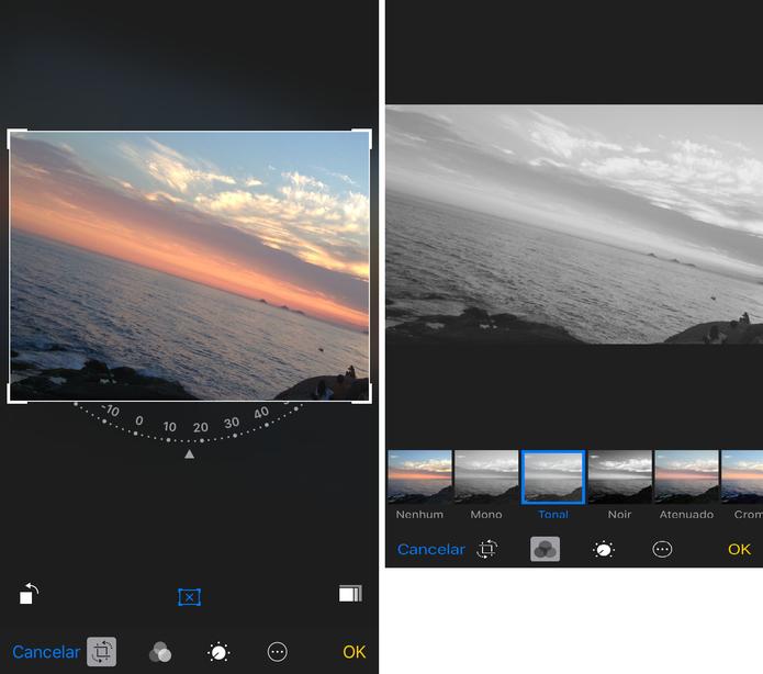 Use o app nativo do iPhone para editar fotos (Foto: Reprodução/Lucas Mendes)