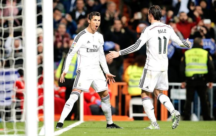 Cristiano Ronaldo comemora gol do Real Madrid contra o Celta vigo (Foto: Agência AP )