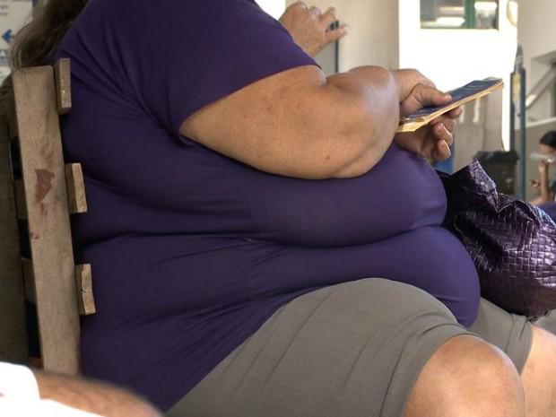 Cem obesos passaram por triagem (Foto: Reprodução/ TV Gazeta)