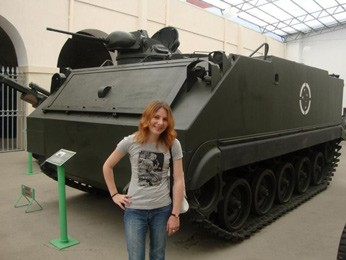 Presidente da Arena em visita ao museu do Comando Militar do Sul, em Porto Alegre (Foto: Arquivo Pessoal)