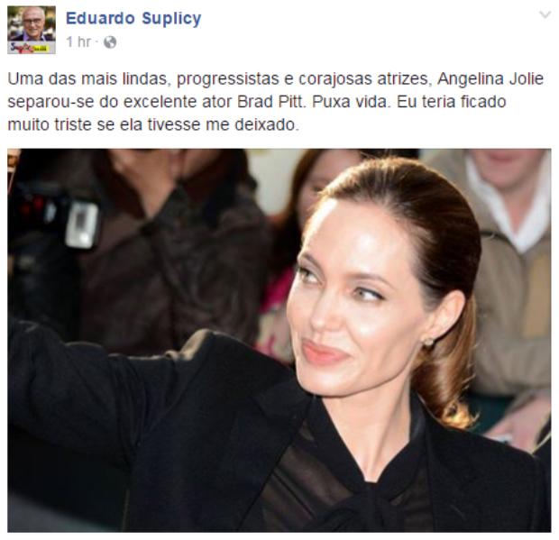 Post de Eduardo Suplicy (Foto: Reprodução/Facebook)