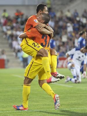 Adriano Correa, Getafe e Barcelona (Foto: Agência AFP)