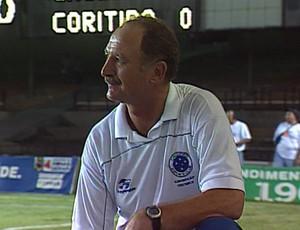Pelo Cruzeiro, Luiz Felipe Scolari venceu a Copa Sul-Minas de 2001 no Mineirão (Foto: Reprodução/TV Globo)
