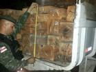 Polícia apreende caminhão com madeira ilegal em rodovia no AM